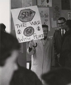War protest poster